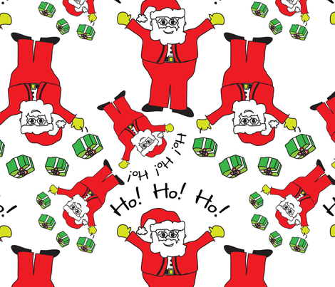 Santa Claus Christmas Pattern fabric by lesrubadesigns on Spoonflower - custom fabric