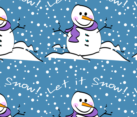 Snowman Let It Snow fabric by lesrubadesigns on Spoonflower - custom fabric