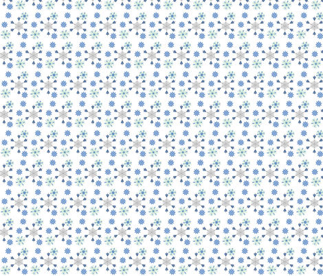 snowy fabric by nadyaa on Spoonflower - custom fabric