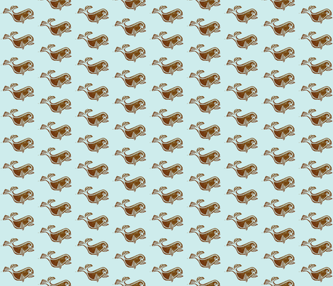 seal-blue & brown fabric by union_studio on Spoonflower - custom fabric