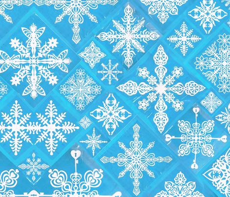 Hand-Cut_Paper_Snowflakes fabric by michellehumberart on Spoonflower - custom fabric