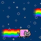Nyan Cat Re-Pixeled - Half Drop Layout