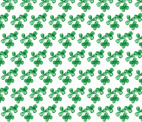 Lucky me-green fabric by kerrysteele on Spoonflower - custom fabric