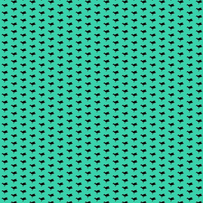 Birdsong - Black on Aqua (Half-Drop)