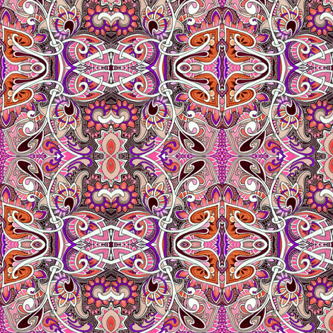 Psychedelic Paisley Haze fabric by edsel2084 on Spoonflower - custom fabric