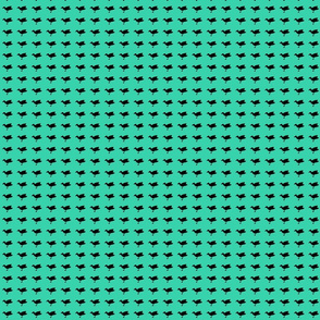 Birdsong - Black on Aqua (Basic)