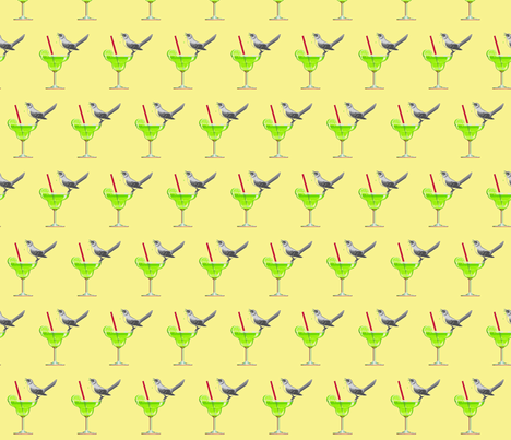 Tequila Mockingbird fabric by liveswithcorgi on Spoonflower - custom fabric