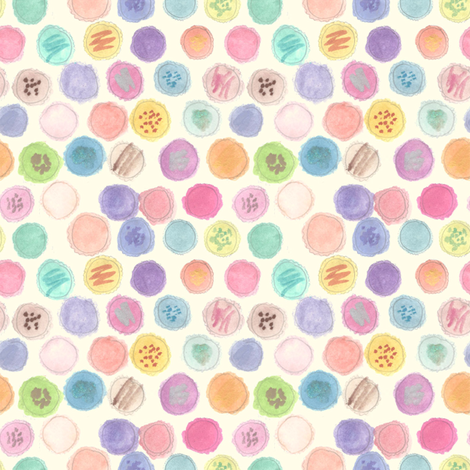 Macarons fabric by abbyg on Spoonflower - custom fabric
