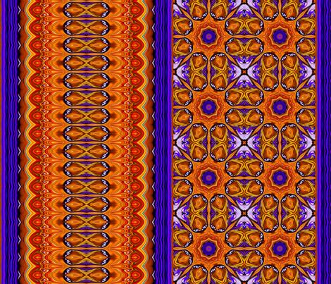 Jeweled_Medallions_Bb_stripe fabric by needlesongs on Spoonflower - custom fabric
