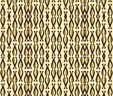 Tribal Gold fabric by flyingfish on Spoonflower - custom fabric