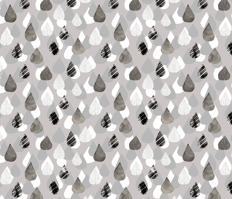 Water drop fabric by susanou on Spoonflower - custom fabric