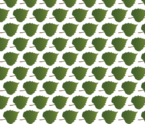 Leaf-Birch fabric by terriaw on Spoonflower - custom fabric