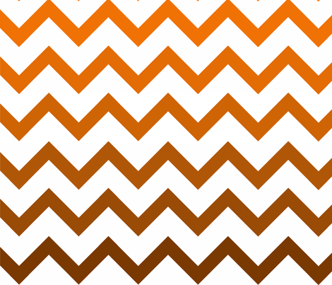 Ombre Orange Chevron Pattern