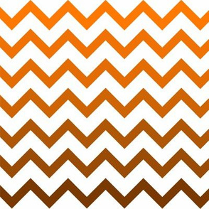 Ombre Orange Chevron Pattern Small Fabric