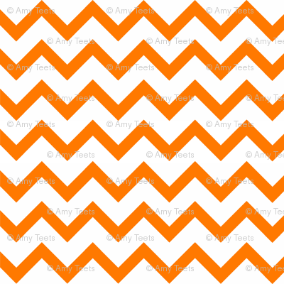 Orange Chevron pattern
