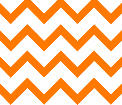 Orange Chevron pattern fabric by amyteets on Spoonflower - custom fabric