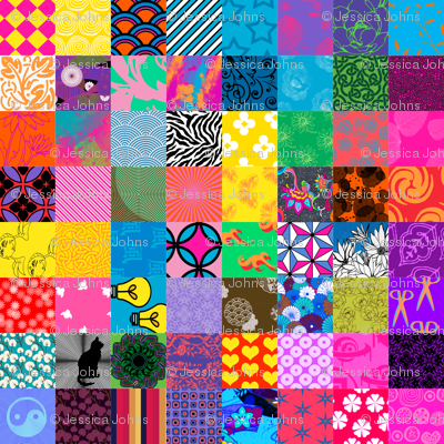 vibrant cheater quilt