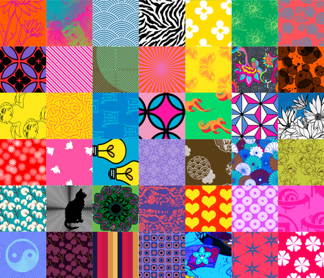 vibrant cheater quilt fabric by spyderfry on Spoonflower - custom fabric