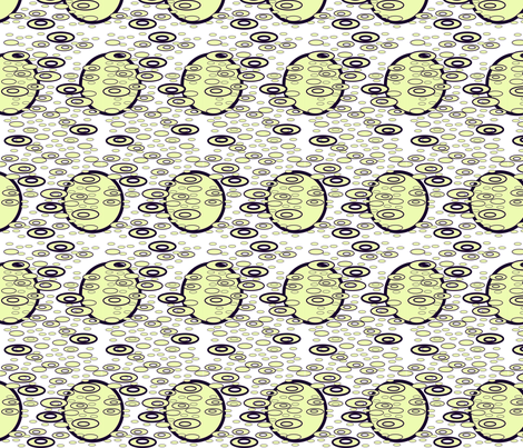 Drip Drop - Lt. Yellow fabric by yewtree on Spoonflower - custom fabric