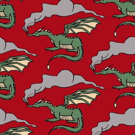 Dragons' Breath fabric by pond_ripple on Spoonflower - custom fabric
