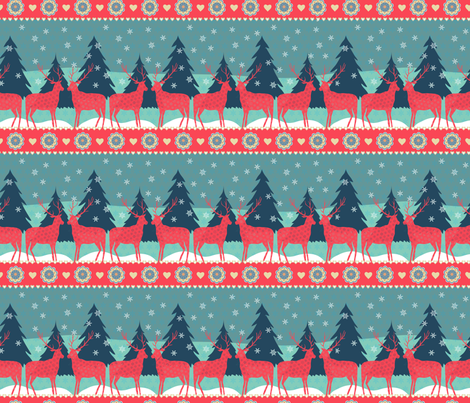 REINDEER_XMAS-_new fabric by kezia on Spoonflower - custom fabric