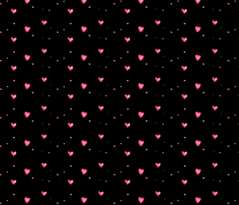 FLOATING HEARTS fabric by bluevelvet on Spoonflower - custom fabric