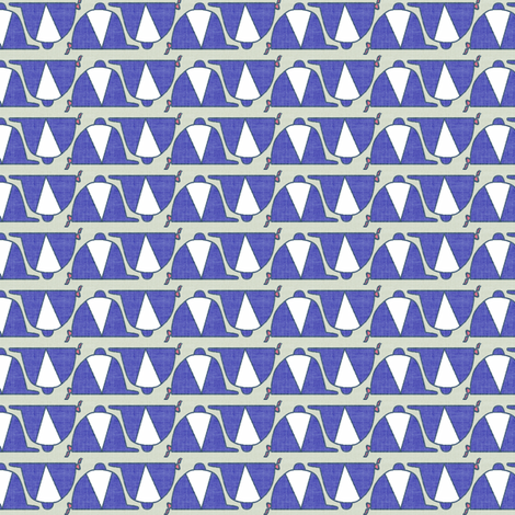 Bitty Caps - navy linen fabric by ragan on Spoonflower - custom fabric
