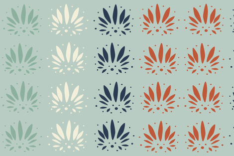 Palmettos fabric by cbl on Spoonflower - custom fabric