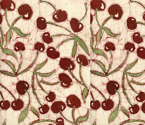 Sweet Cherry Decals fabric by hooeybatiks on Spoonflower - custom fabric