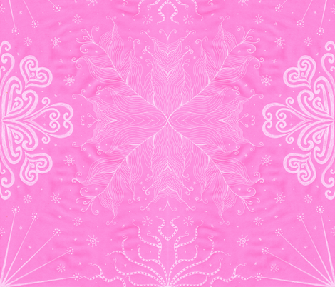 Kayi, Bubblegum, Large fabric by katiame on Spoonflower - custom fabric