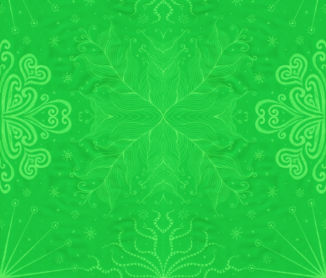 Kayi, Green, Large fabric by katiame on Spoonflower - custom fabric
