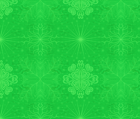 Kayi, Green, Medium fabric by katiame on Spoonflower - custom fabric