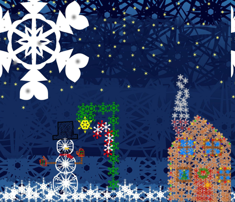 Snowflake_contest_entry fabric by ascphotos&amp;designs on Spoonflower - custom fabric