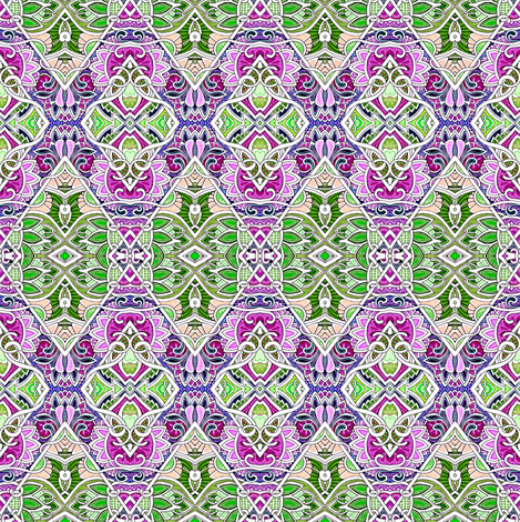 And One to Grow On (delicate green/raspberry diamond patchwork) fabric by edsel2084 on Spoonflower - custom fabric