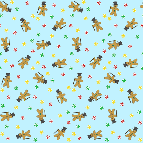 Gingerbread Gentlemen fabric by tanith on Spoonflower - custom fabric