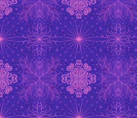 Kayi, blueberry, medium fabric by katiame on Spoonflower - custom fabric