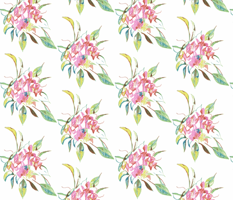 bouquet fabric by kerrysteele on Spoonflower - custom fabric
