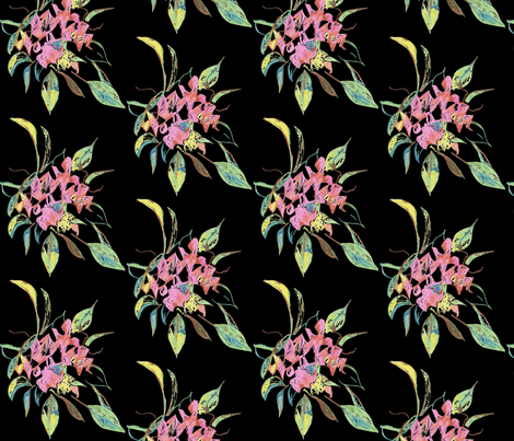 bouquet- night fabric by kerrysteele on Spoonflower - custom fabric