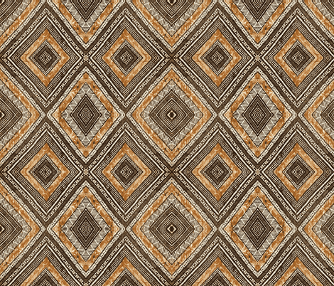 Fiji Tapa fabric by flyingfish on Spoonflower - custom fabric