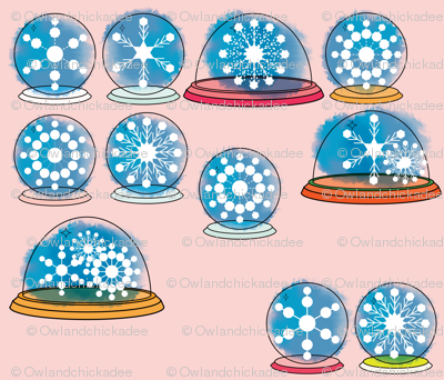 Snowglobes - Pink