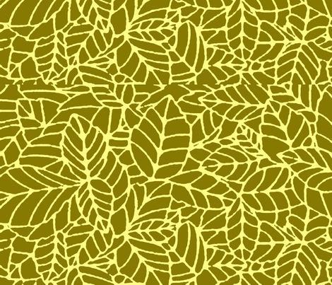 Jungle green fabric by flyingfish on Spoonflower - custom fabric