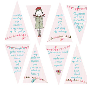 Quotation Cupcake Collection Bunting