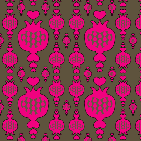 pomegranate, pink, schraegerfuerst fabric by schraegerfuerst on Spoonflower - custom fabric