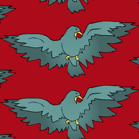 Birdsong fabric by pond_ripple on Spoonflower - custom fabric