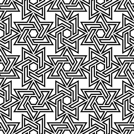 star of david - p4 fabric by sef on Spoonflower - custom fabric