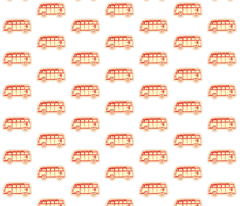 VW_BUS_red vintage fabric by nikkipeterson on Spoonflower - custom fabric