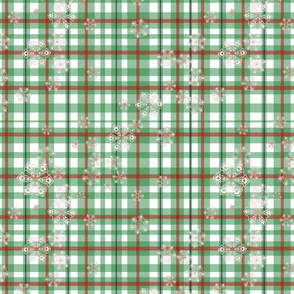Snowflakes In Plaid