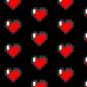 Zelda Pixel 8-Bit Heart - Black