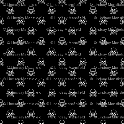 Skull and Cross Bones - Black