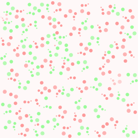 RedandGreenMints fabric by rachml on Spoonflower - custom fabric